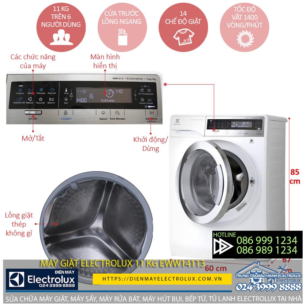 Máy giặt Electrolux 11kg eww14113